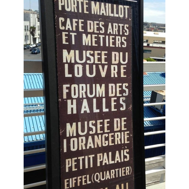 French Train Sign - Image 4 of 7