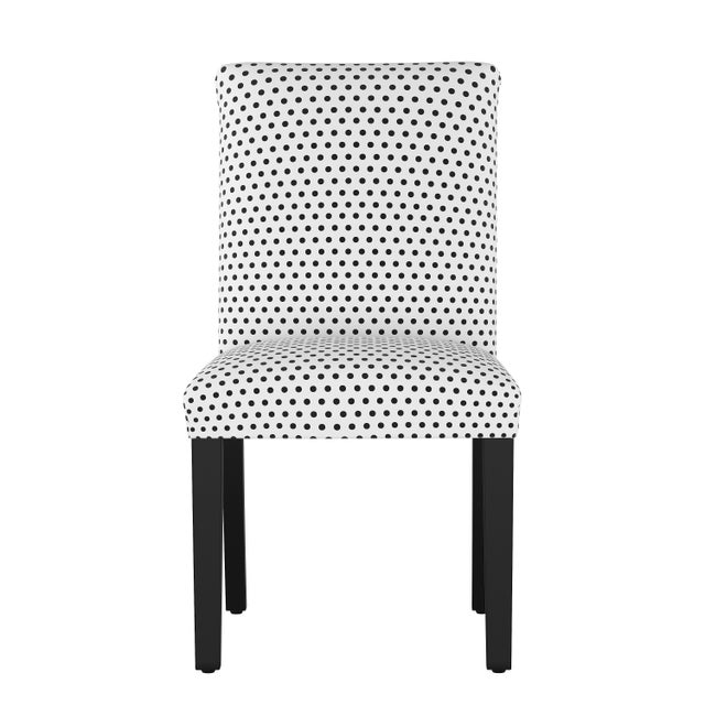 Textile Dining Chair in Polka Dot White Oga For Sale - Image 7 of 7