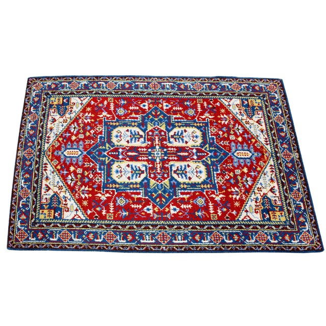 """For your consideration is a beautiful, hand-knotted, rectangular area rug. In excellent condition. The dimensions are 76""""..."""