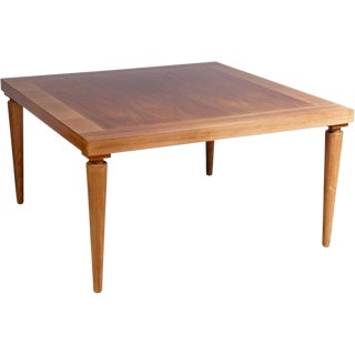 T.H. Robsjohn-Gibbings Neoclassical Walnut Coffee / Cocktail Table For Sale