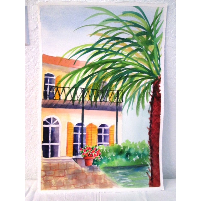 'Afternoon' Watercolor Painting - Image 2 of 7