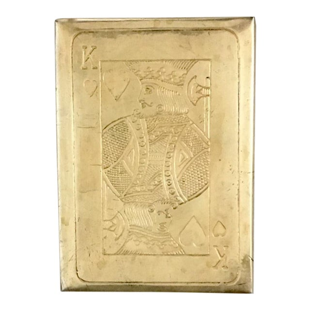 Image of Vintage Brass Playing Card Case