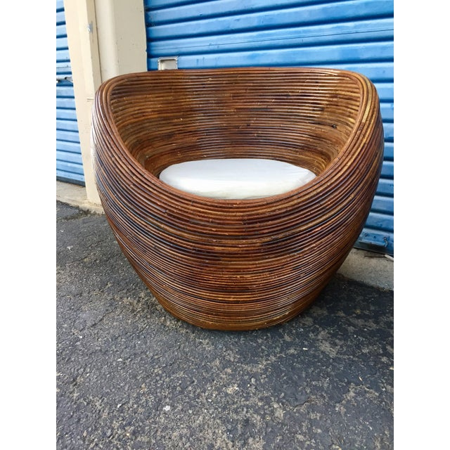 Pencil Wood Reed Pod Chairs - a Pair For Sale In San Francisco - Image 6 of 6