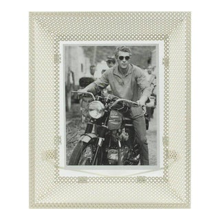 Mathieu Mategot White Perforated Metal Picture Photo Frame