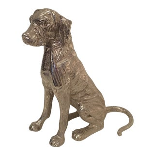 Cast Aluminum Dog Sculpture For Sale