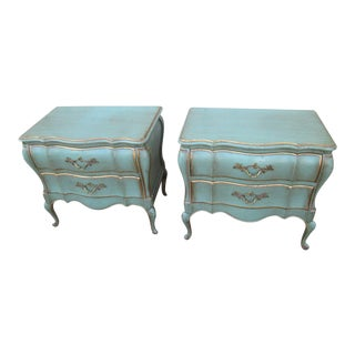 Vinage Dixon Powdermaker French Louis XV Style 58700 Nightstands - a Pair