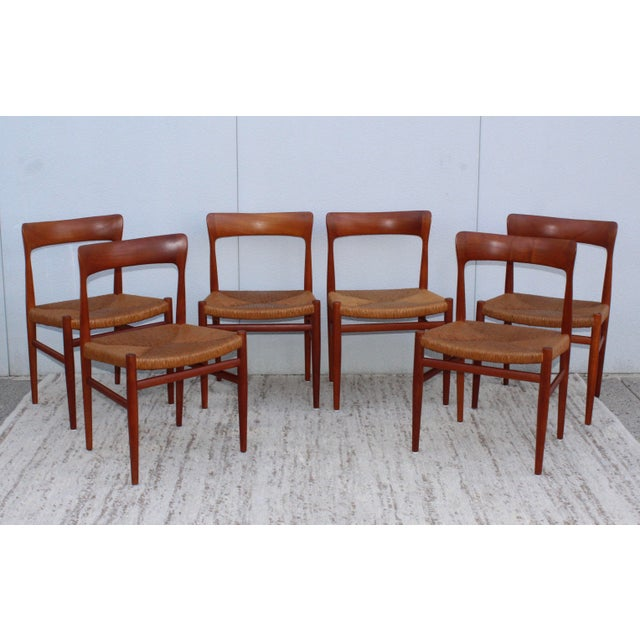 1950's Danish Teak Sculptural Dining Chairs - Set of 6 For Sale - Image 13 of 13