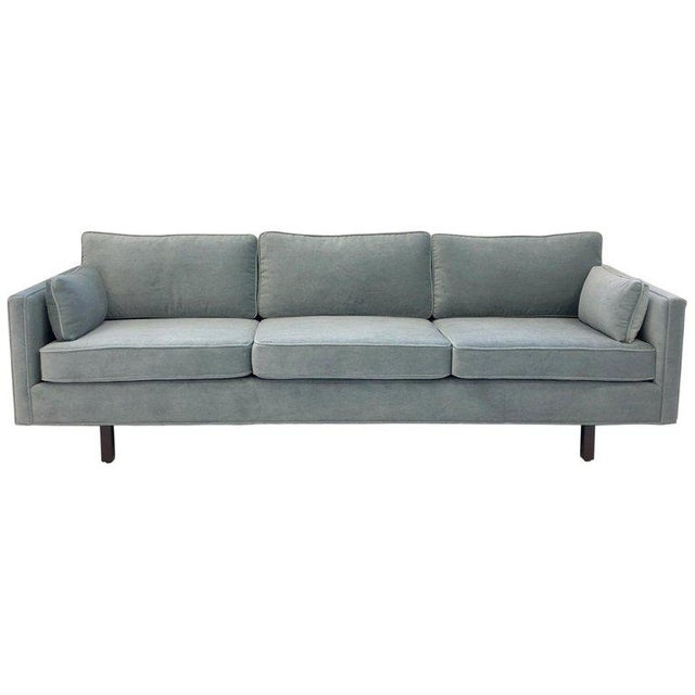 1950s Carroll Beaupré Interiors Custom Mohair Sofa For Sale - Image 10 of 10