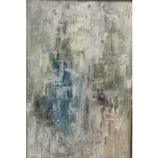 """""""Blue Cascade"""" Abstract Painting on Canvas For Sale"""