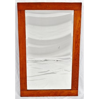 Antique Oak Wood Framed Wall Mirror Preview