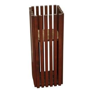 Modernist Wood Pedestal Style Planter