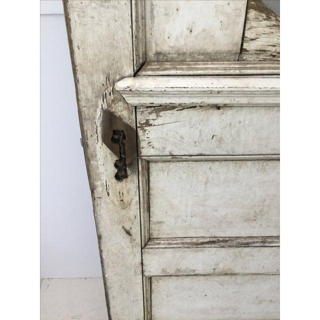 Antique Beveled Glass & Wooden Door - Image 4 of 10