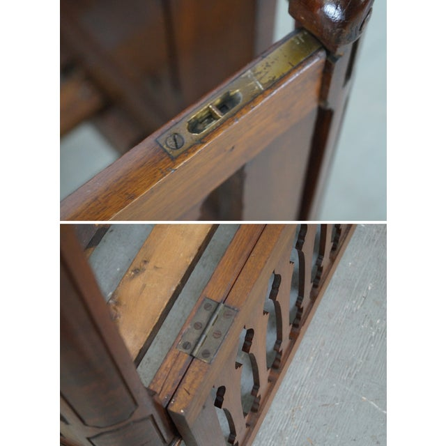 Antique Walnut American Renaissance Baby/Doll Crib For Sale In Philadelphia - Image 6 of 10