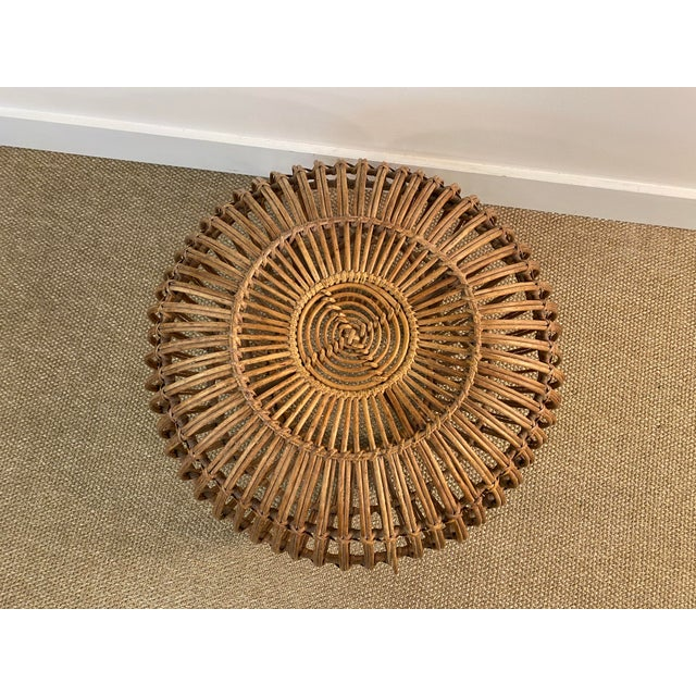 Original Franco Albini Wicker Rattan Chair and Ottoman - a Pair For Sale - Image 11 of 13