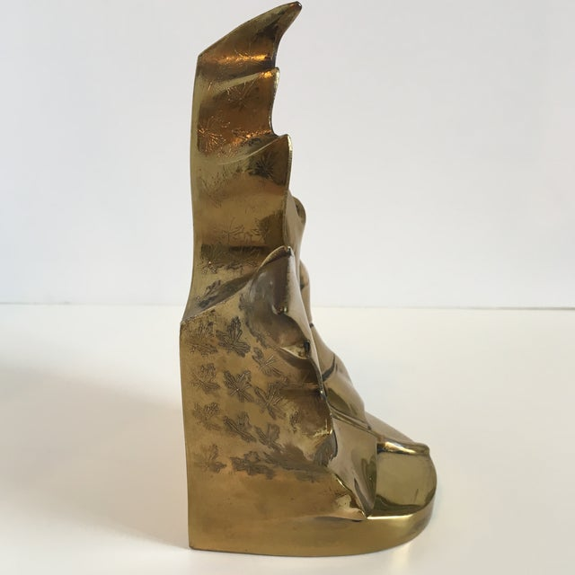 Vintage Brass Leaf Bookend For Sale In Washington DC - Image 6 of 9