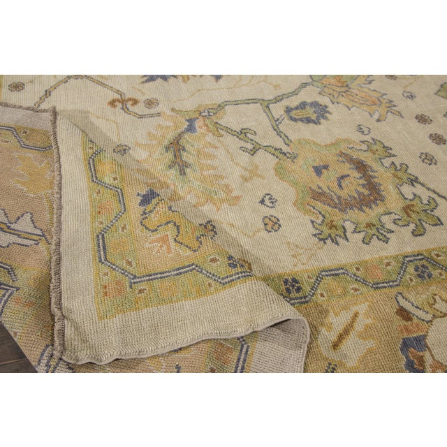 "Contemporary Turkish Oushak Modern Rug - 10'2"" X 14'6"" For Sale - Image 3 of 7"