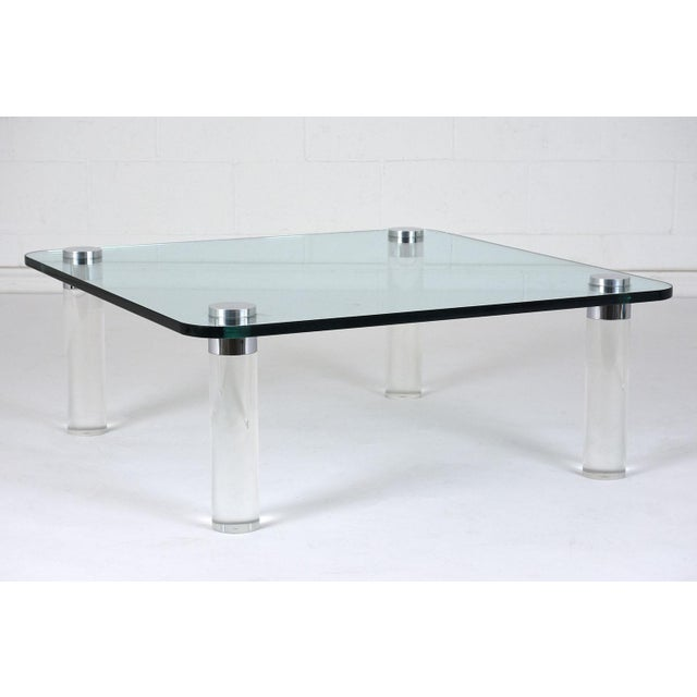 Mid-Century Modern-style Lucite Coffee Table For Sale - Image 4 of 7