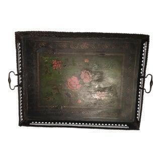Antique Russian Tole Tray