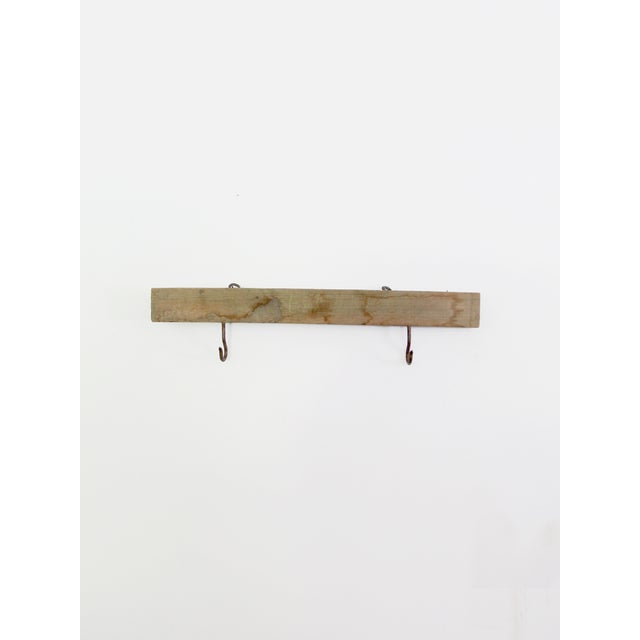 Vintage Wood & Metal Hook Rack - Image 5 of 7