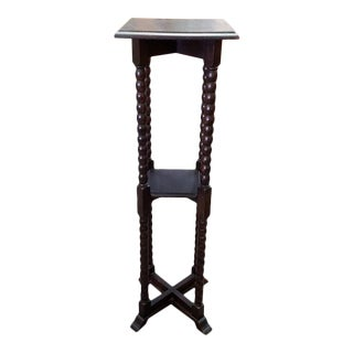 English Oak Two Tier Plant Stand C.1920 For Sale