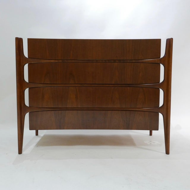 William Hinn William Hinn Swedish Book-Matched Gentlemen's Chest With Top Cabinet For Sale - Image 4 of 9