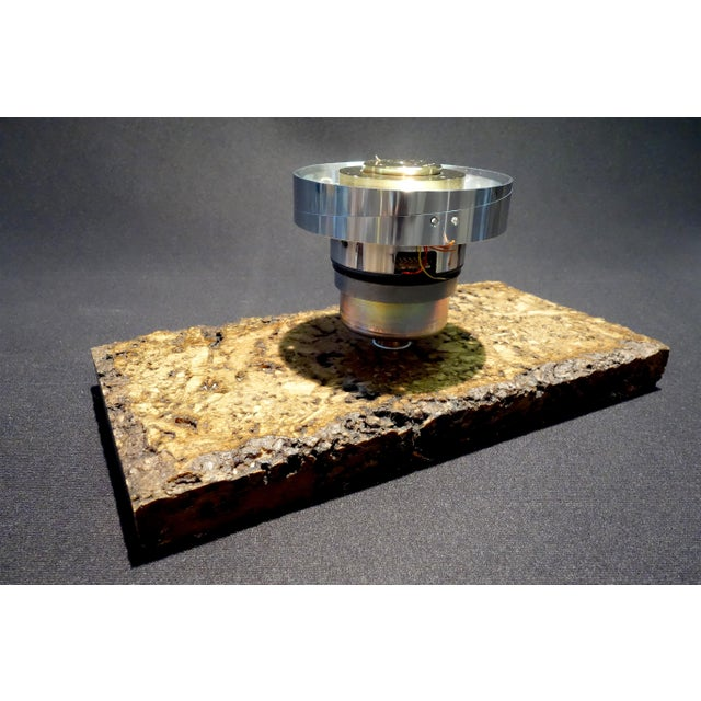 Vintage 20th Century Video Tape Recorder Component Art Sculpture on Stone Base For Sale - Image 4 of 11