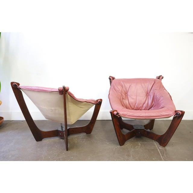 Danish Modern Mid Century Modern Odd Knutsen Luna Chairs- a Pair For Sale - Image 3 of 11