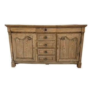 French Provencal Style Bleached Sideboard For Sale