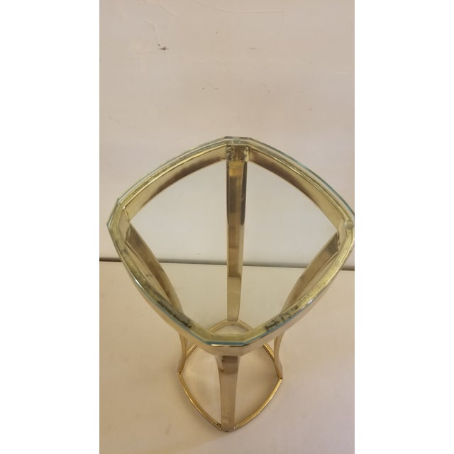 Mid-Century Modern 1970s Solid Brass Art Pedestal For Sale - Image 3 of 9
