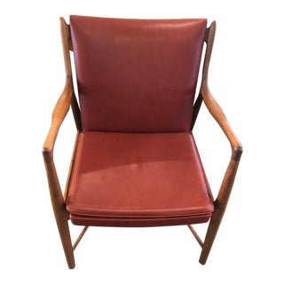 Design Within Reach Model 45 Chair in Custom Red Leather For Sale