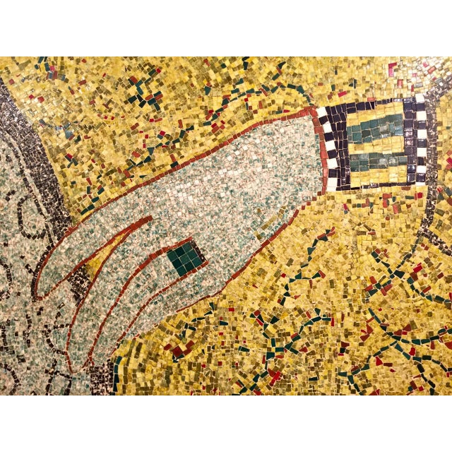 Art Deco Mid-20th Century Mosaic of Egyptian Hand For Sale - Image 3 of 5