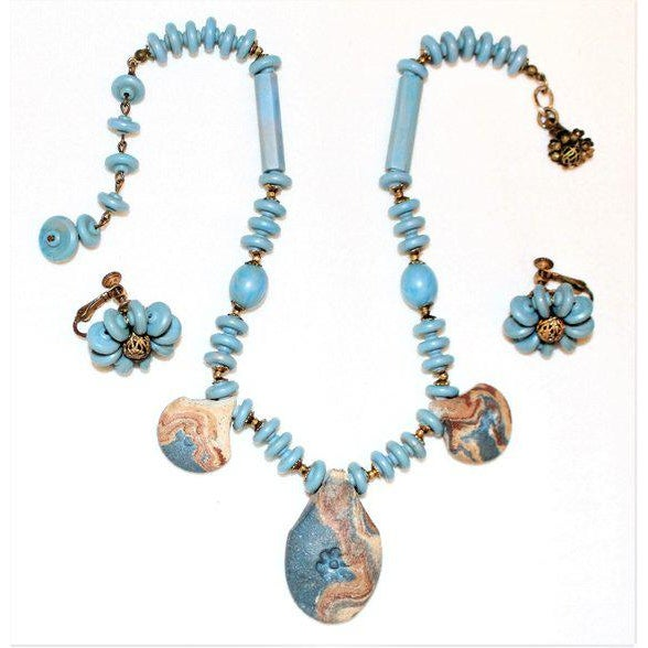 Miriam Haskell Miriam Haskell Necklace & Earring Set For Sale - Image 4 of 4