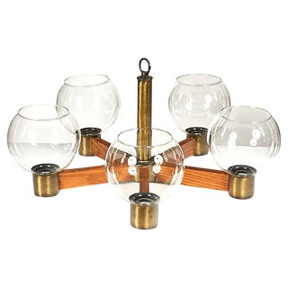 1970s Spoke-Style Chandelier For Sale