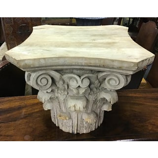 Old Carved Wooden Capital Preview