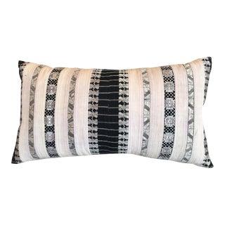 Silk Ribbon Tribal Textile Pillow