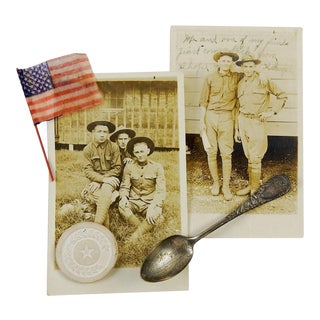 """Remember the Maine"" Collection Silverplate Spoon, Photos, Poker Chip & Flag - Set of 5"