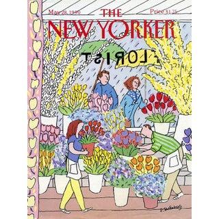 Vintage 1990 New Yorker Cover, May 28 (Devera Ehrenberg), Gardening, Florist For Sale