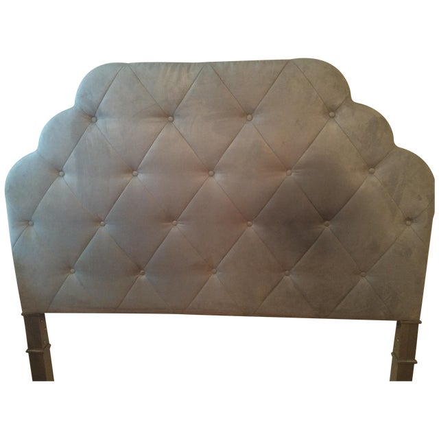 Seafoam Tufted Arch Queen Headboard - Image 1 of 4