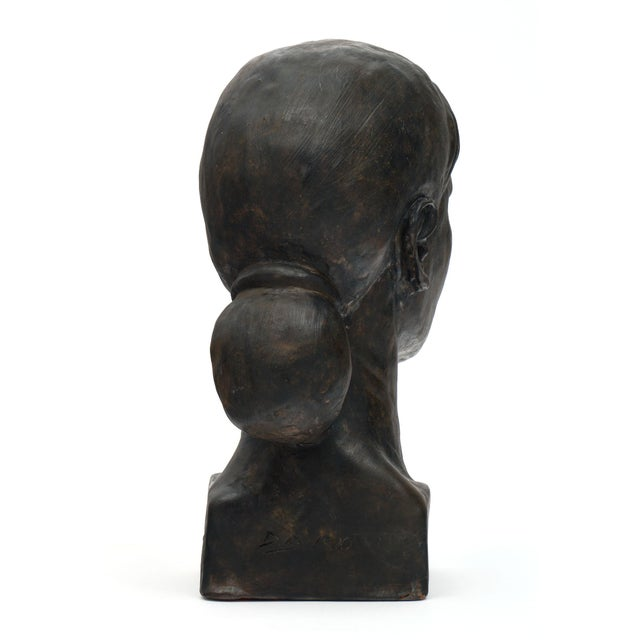 1990s French Terracotta Bust For Sale - Image 5 of 10