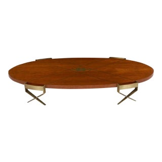 1950s Mid Century Modern Pepe Mendoza Frank Kyle Inlaid Coffee Table For Sale