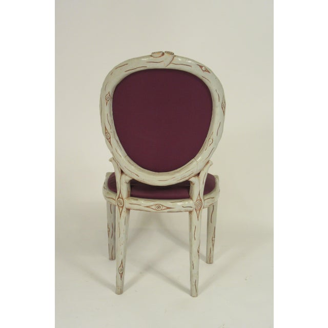Violet 1960s Vintage Faux Bois Dining Chairs- Set of 6 For Sale - Image 8 of 13
