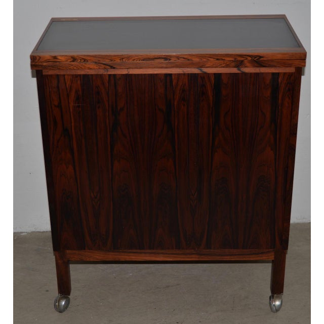 Danish Modern Rosewood Bar Cart by Torborn Afdal for Mellemstrands C.1960s For Sale - Image 9 of 13