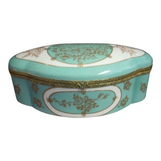 French Painted Vanity Box For Sale