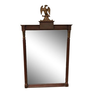 1900s Traditional Eagle Motif Mahogany Wall Mirror