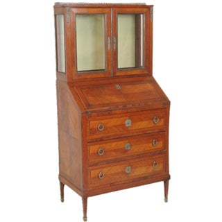 Louis XV Style Parquetry Inlaid Secretary Desk