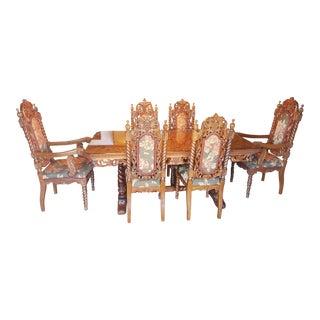 Rare Antique Narra Wood Dining Set For Sale