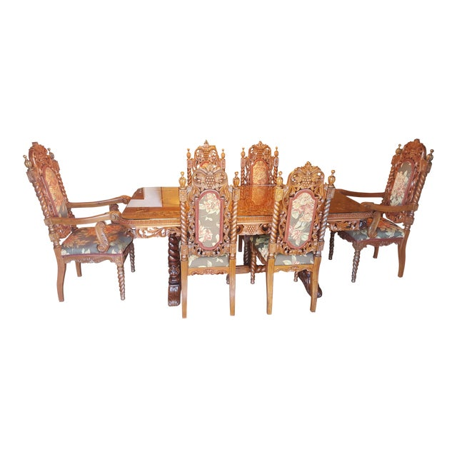 Rare Antique Narra Wood Dining Set - Image 1 of 11