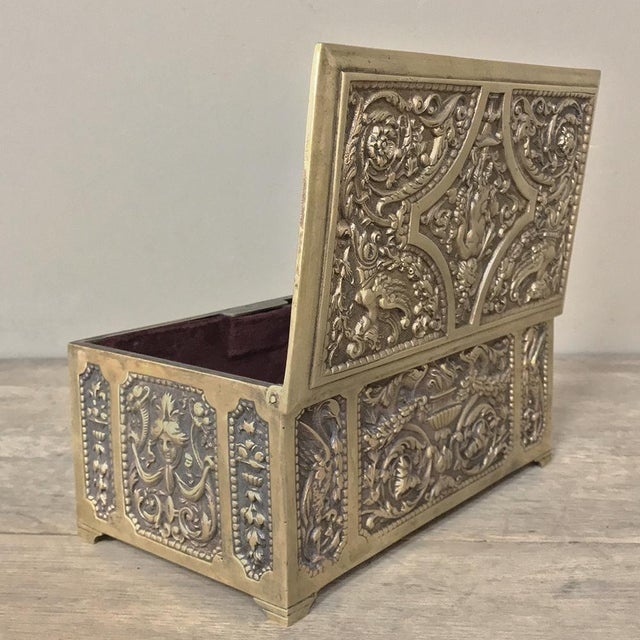 Jewelry Box, 19th Century French Renaissance, Cast in Bronze For Sale - Image 11 of 13