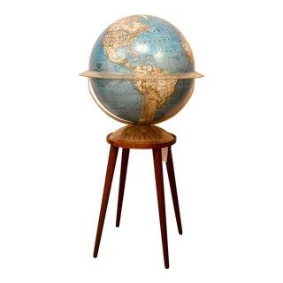 1960s Mid Century Modern Light Up World Globe For Sale