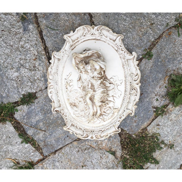 Rococo Chalkware Wall Hanging - Image 4 of 5